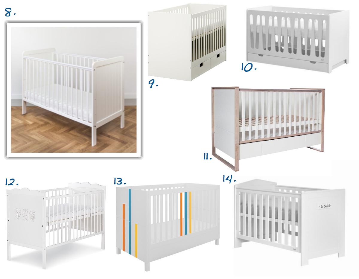 białe łóżeczko dla niemowlaka