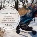 Kees K2Go - wpis o tym, jak mały wózek poradził sobie zimą!