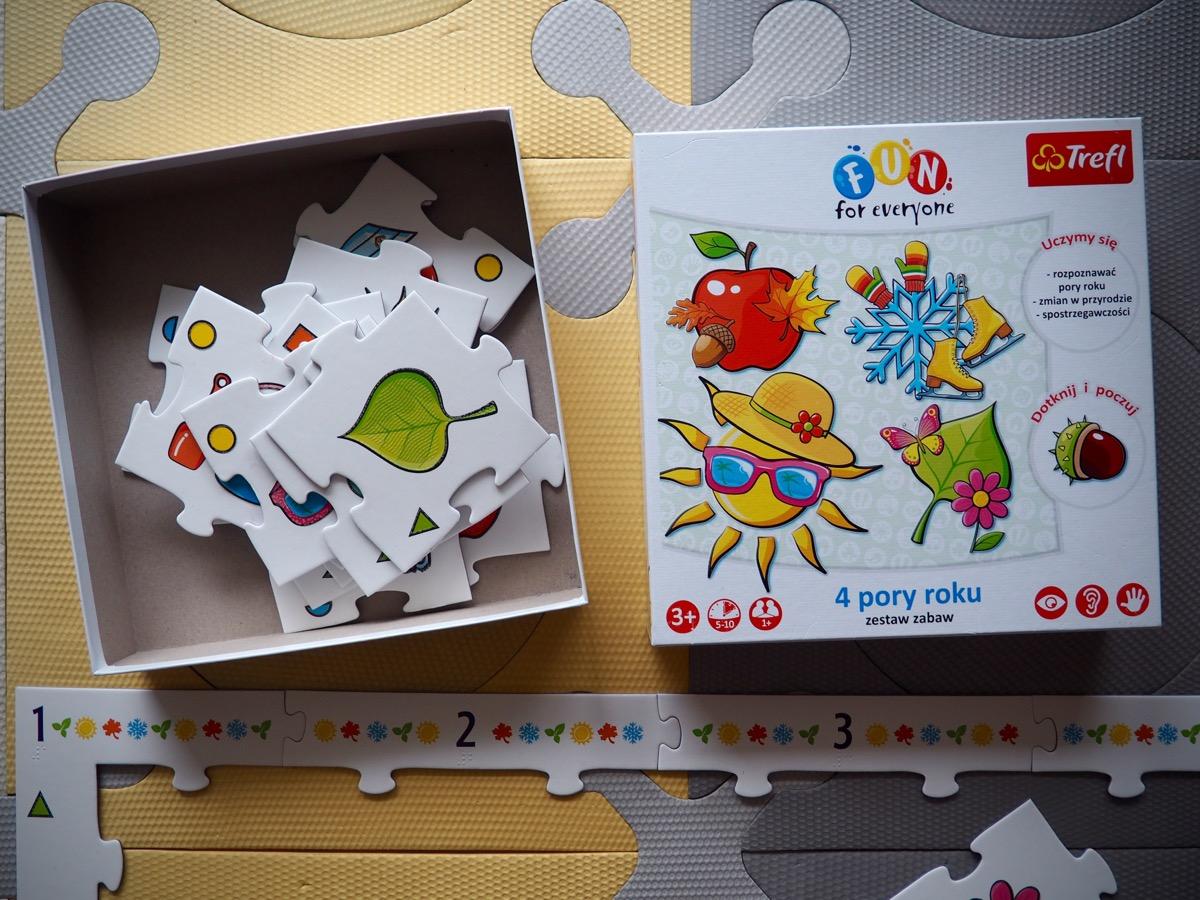 fun for everyone trefla 4 pory roku zestaw gier trefla pierwsza planszówka