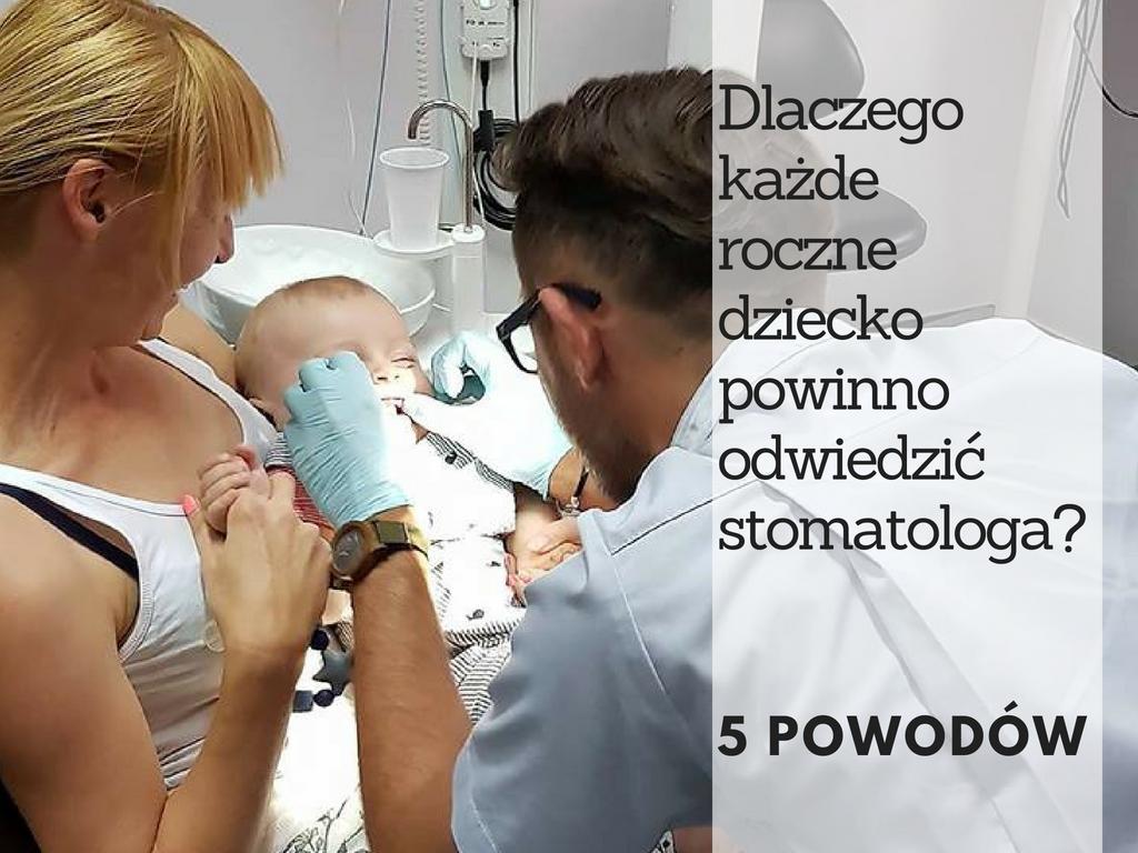 dziecko stomatolog roczek wizyta adaptacyjna pierwsza