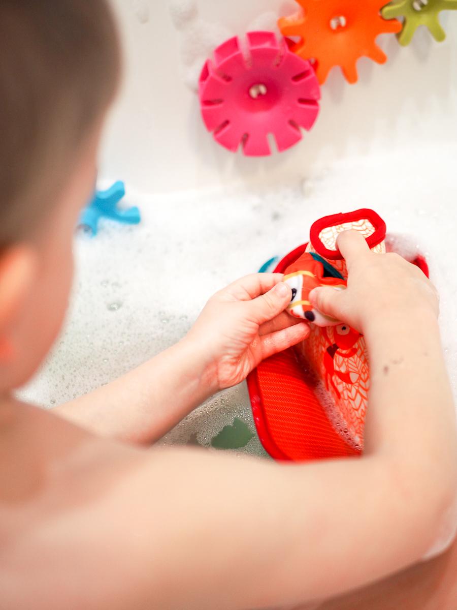 zabawki do kąpieli przegląd lilliputiens łódka wędka
