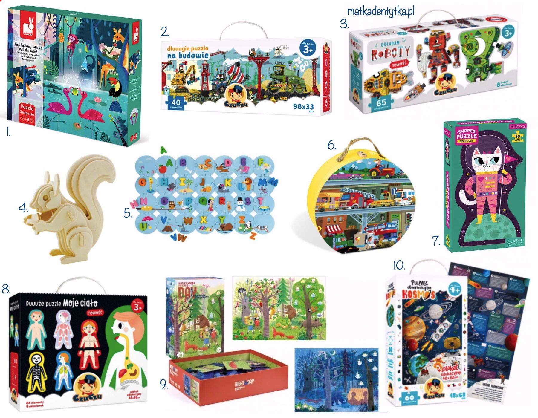 prezent na dzień dziecka przedszkolak puzzle czuczu janod