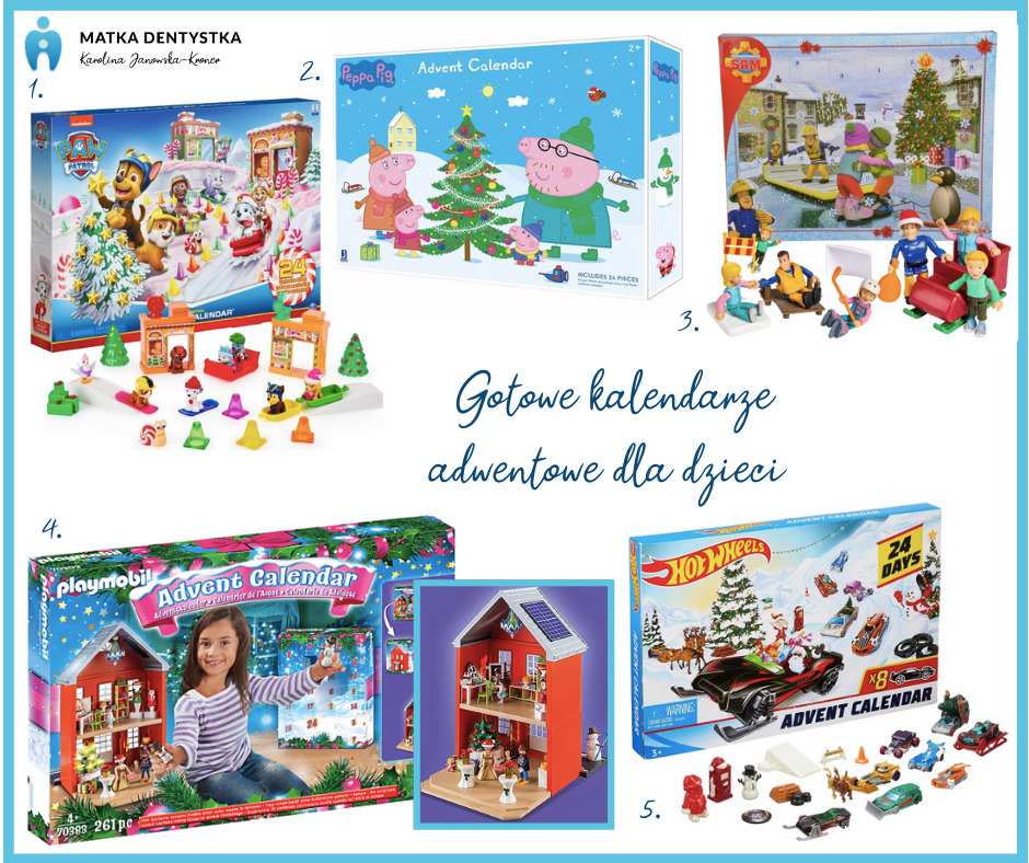 gotowe kalendarze adwentowe dla dzieci