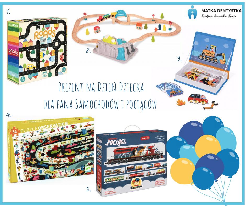prezent na dzień dziecka samochody pociągi
