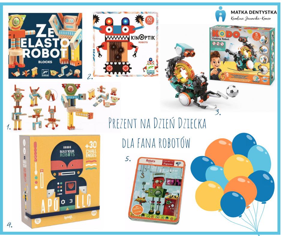 prezent na dzień dziecka dla fana robotów