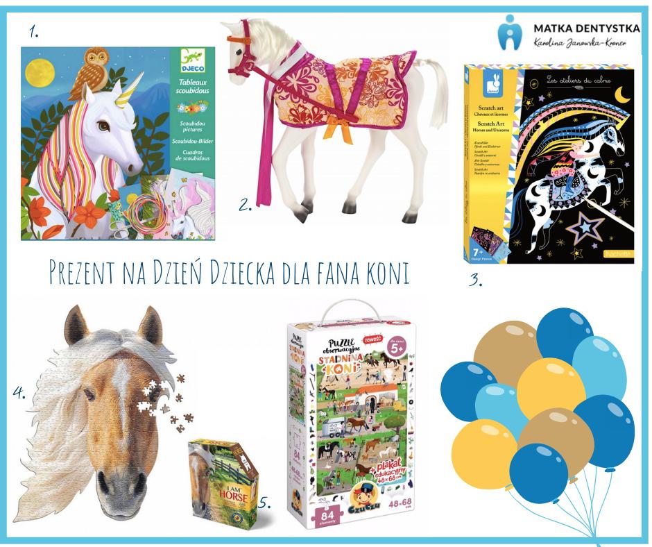 prezent na dzień dziecka dla dana koni